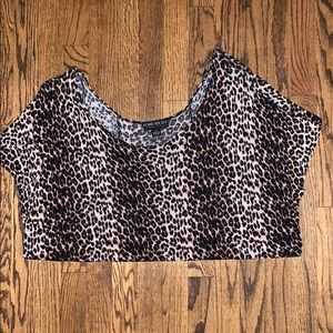 Leopard Print Scoop Top